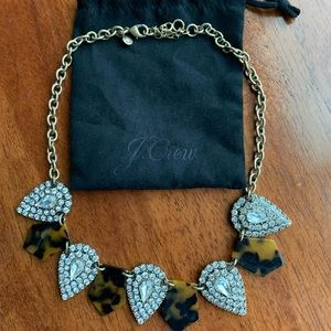 J.Crew statement tortoise necklace